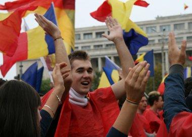 Новый Регион: Сторонники объединения Румынии и Республики Молдова прошли маршем по Бухаресту (ФОТО)